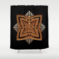 Art Deco Brooch Shower Curtain