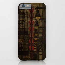 Old Goodman Theatre Sign from Alley Chicago Illinois iPhone Case