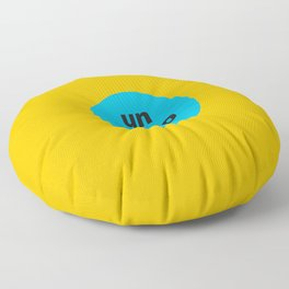 un poco loco a bit crazy Floor Pillow