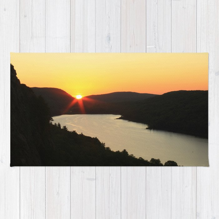 Sunrise over Lake of the Clouds Rug