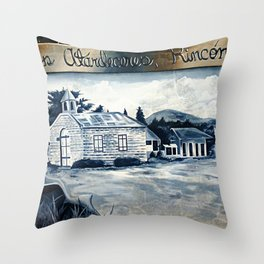History on the wall 2 @ Rincon Throw Pillow