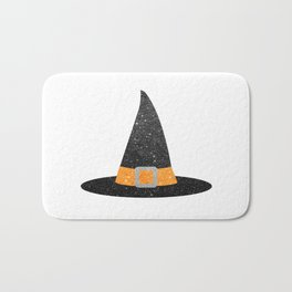 Glitter Witch Hat Bath Mat