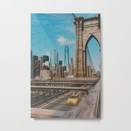 The Bridge in New York City (Color) Metal Print