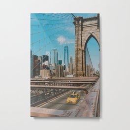 The Bridge in New York City (Color) Metal Print