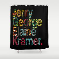 seinfeld Shower Curtains featuring Jerry, George, Elaine & Kramer by Lauren Little