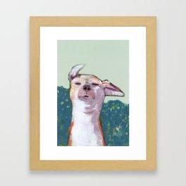 Dog in Wind Framed Art Print