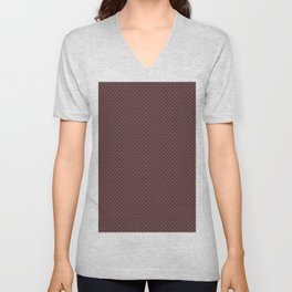 Pantone Red Pear Small Scallop, Wave Pattern Unisex V-Neck