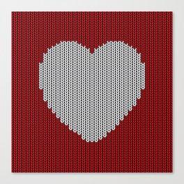 Wool Heart Canvas Print