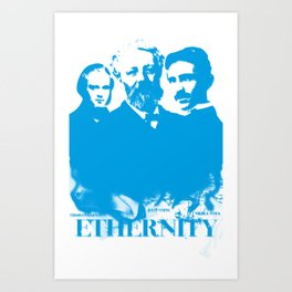 Ethernity (blue) Art Print
