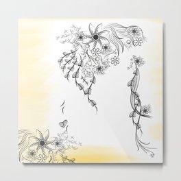 Floral to Floral Metal Print