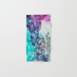 Remembering_ abstract painting , alcohol ink painting Hand & Bath Towel