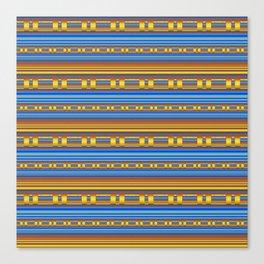 Elegant Chain Geometry Gold & Periwinkle Canvas Print
