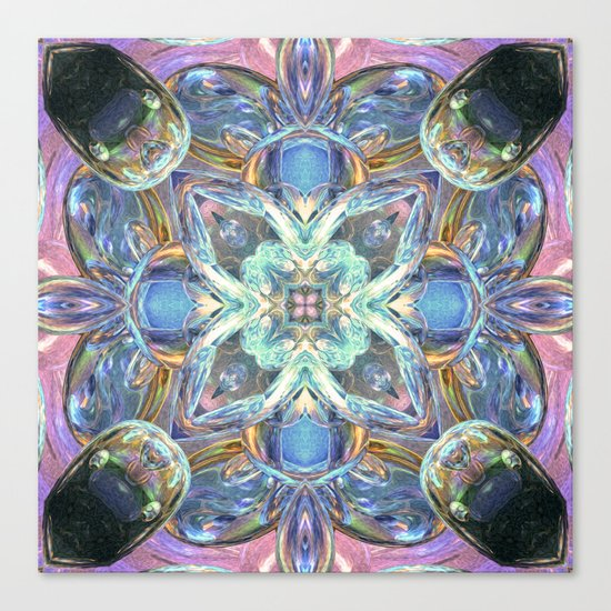 Colorful Kaleidoscope Reflections Canvas Print