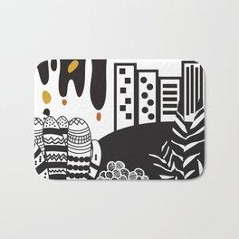 Black and white landscape Bath Mat