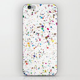 Confetti Paint Splatter iPhone Skin