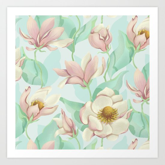 magnolia bloom - fairy version Art Print