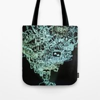 geek Tote Bags featuring GEEK by taniavisual