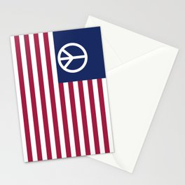 Peace and Love USA Flag Stationery Cards
