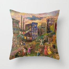 The Edge of City - Bronx by David Burliuk Throw Pillow