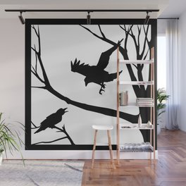 Crows Calling Wall Mural