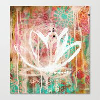 namaste Canvas Prints featuring namaste by SannArt