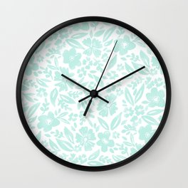 Stamp Floral Pattern Wall Clock