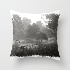 Foggy Path Throw Pillow