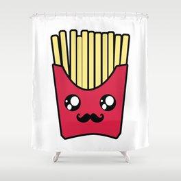 Kawaii French Fries Shower Curtain