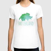switzerland T-shirts featuring Switzerland by Stephanie Wittenburg