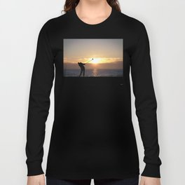 Playing Golf At Sunset Long Sleeve T-shirt