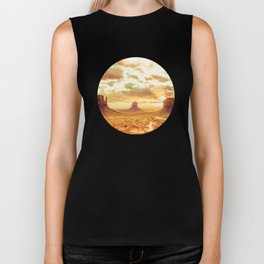 Monument Valley Sunrise Biker Tank