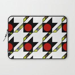 HOUNDSTOOTH PATTERN WITH POLKA DOT EFFECT Laptop Sleeve