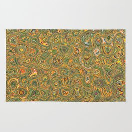 Green and Yellow Rug