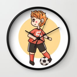 Young defender Football Libero Sports Gift Wall Clock