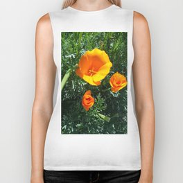 California Poppy Biker Tank