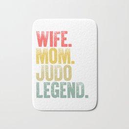 Best Mother Women Funny Gift T Shirt Wife Mom Judo Legend Bath Mat