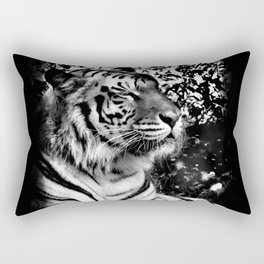 Bengal Tiger in black and white with vignette Rectangular Pillow