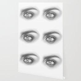 Eye Art | Sexy Girl | Beauty | Model | Woman Face | Graphite Drawing| Pencil Black and White Art Wallpaper
