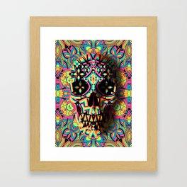 Fancy Skull Framed Art Print