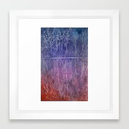 abstract reflection Framed Art Print
