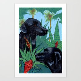 Jungle Dogs Art Print
