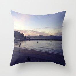 Aquatic Cove Throw Pillow