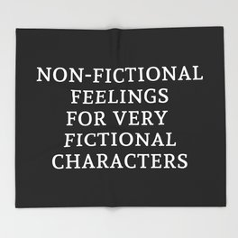 Non-Fictional Feelings for Very Fictional Characters - Inverted Throw Blanket