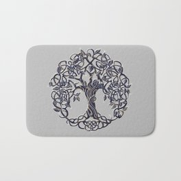 Tree of Life Silver Bath Mat