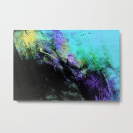 STORMY BLACK Metal Print