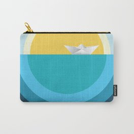 Paper boat in the sea Carry-All Pouch