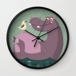 Unlikely Friends Wall Clock