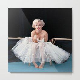 Marylin Monroe Ballerina Poster, Quality Print, American icon, actress, Vintage Art Photography, Home Décor Metal Print