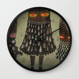 The Night Lurkers Wall Clock