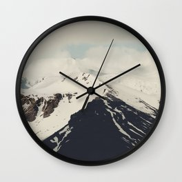 Into the mountains III Wall Clock